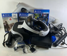 playstation vr bundle used With 3 Games And Motion And Aim Controllers
