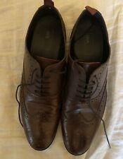 ASOS US 11.5/UK 10.5 Burgundy Brogue Wingtip Dress Shoes