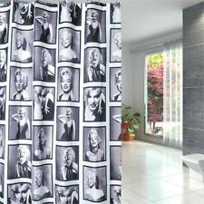 Shower Curtain Marilyn Monroe Pattern Bathroom Waterproof Fabric 12 Hooks