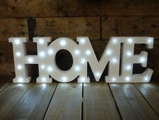 Vintage White Large LED Light Up Wall Art Letters 60cm Home Decoration Sign Gift