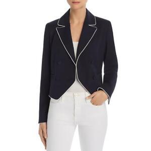 Frame Womens Navy Professional Business Crop Blazer Jacket Juniors 6 BHFO 2583
