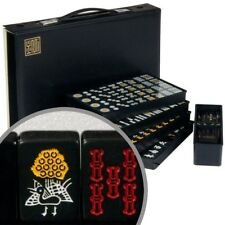 YMI Japanese Riichi Mahjong Set with Black Tiles