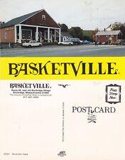 BASKETVILLE STORE STURBRIDGE MA UNUSED ADVERTISING COLOUR POSTCARD