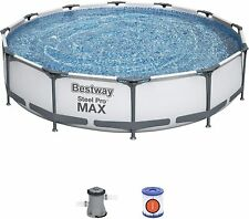 More details for bestway large 12ft swimming pool with filter pump steel pro max - 366 x 76cm