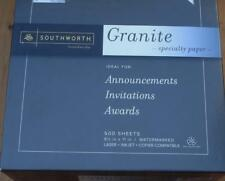 Southworth Granite Specialty Paper - NEW IN BOX - Ivory Color - 500 Sheets
