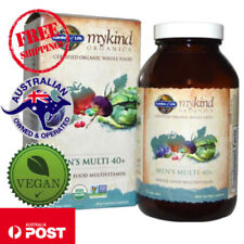 Garden of Life MyKind Organics Men's Whole Food Multivitamin 40+ 120 Vegan Tabs