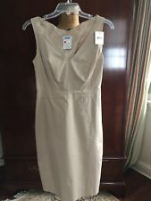 9b58d57d705 Moschino Italy Beige Stretch Cotton V Neck Sleeveless Dress NEW!! TAGS!!  Size