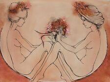 Jeanin KOSTIA BLANCHETEAU (1932-2013) Gouache Nle Ecole de Paris Nu Années 60
