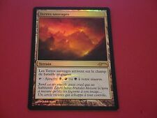 MTG MAGIC CARTE FNM DCI SAVAGE LANDS (FRENCH TERRES SAUVAGES) NM FOIL