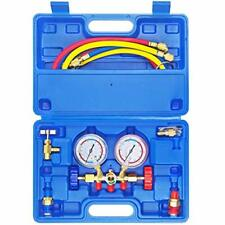 3 Way Ac Manifold Gauge Set Hvac Diagnostic Freon Charging Tool For Auto Househ