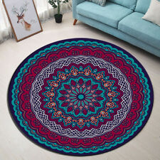 Mandala Area Round Rug Circle Round Soft Living Room Carpet Bedroom Flooring Mat