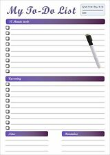 Large A3 Magnetic whiteboard Personal Planner with a free marker(Aust made)