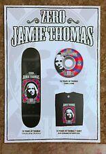 Jamie Thomas Invisible Zero Fallen Skateboard 10 Yrs Xl Postcard Catalog Poster
