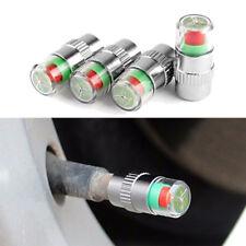4x Autoreifen-Ventilkappen Rad Druck Luftfühler Staub Display 32-34-36 Psi