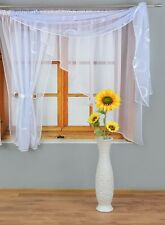 MODERN VOILE NET CURTAIN IN COLORS CIRCLES READY TO HANG 300 cm x 160 cm