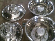"""FORD F450 / F550 Dually Stainless Steel Wheel Covers 8 lug NEW 19.5"""" 1999-2004"""