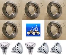 5x LED Einbauspot Dimmbar Eisen 280 Lm w-weiß Einbauleuchte Downlight #5462