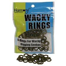 """Green Pumpkin Color O-Rings For Wacky Rigging Senko Worms (100 pcs - 4&5"""" Senko)"""