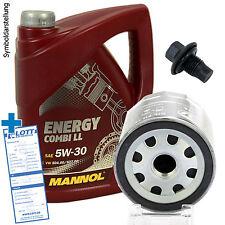 5 Liter 5W-30 Motoröl Energy Combi LL + Ölfilter + Schraube für VW / Audi / Seat