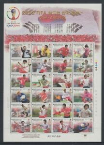 KOREA 2002 WORLD CUP SHEETLET FOOTBALL (ID:R43822)