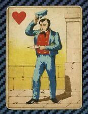 """Carte à jouer issue d'un jeu transformé dit """"Jeanne Hachette"""" - circa 1860"""