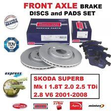 Für Skoda Superb Mk I 1.8T 2.0 2.5 Tdi 2.8 V6 2001-2008 Vordere Bremsbeläge +