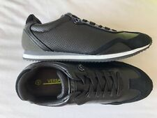 VERSACE JEANS Black Leather/Suede Rivet Logo Trainers Sizes UK 6 - 11 BNWT/BOX