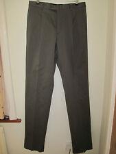 Calvin Klein Suit Pantalones 32 Algodón Pantalones Ropa De Trabajo De Oficina Inteligente Forrado Verde