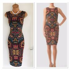 JOSEPH RIBKOFF Floral Colourful Sparkly Jersey Bodycon Dress Uk 14