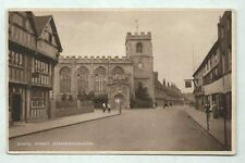 Old Rare Postcard Chapel Street Stratford On Avon pu with George V stamp
