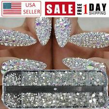 3D Crystal Rhinestone Glitter Jewelry Glass Diamond Gems Nail Art Decor Usa
