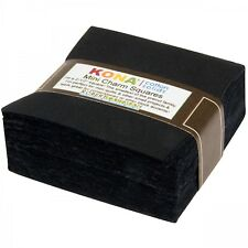 2.5-inch Mini Charm Squares Kona Cotton - All Black - 84pcs