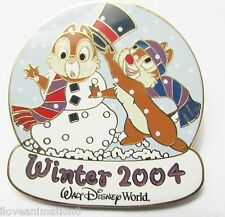 Disney Wdw Chip & Dale Snowman Winter #4 Surprise Release Pin