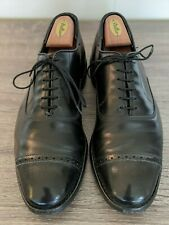 Allen Edmonds Black Leather Perforated Captoes for Brooks Brothers