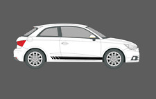 Audi A1 Beats Fade Style Stripes Decal Stickers Graphics Set. Quattro, S1, etc.