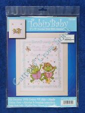 Cross Stitch Kit Froggie Fun Frog Family Baby Birth Announcement Record
