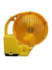 Bakenleuchte Baustellenleuchte beidseitig gelb Dauer- und Blinklicht LED Leuchte