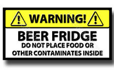 BEER FRIDGE NOVELTY METAL FRIDGE MAGNET,DRINK,FUNNY,WINE,BAR,PUB,WARNING BEER
