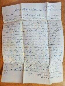 1849 Middle Fork the American Fork of the Sacramento CA Gold Rush Miner Letter