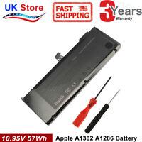 "Battery For Apple MacBook Pro 15"" MC721 MC723 MB985 A1286 2010-2012 A1382 MB986"