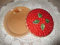 plat à tarte SILEA en trompe-l'oeil-cuisson et présentation-décor framboise