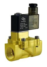 """3/4"""" Brass Electric Water Solenoid Process Valve Low Power Consumption 220V AC"""