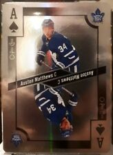 AUSTON MATTHEWS & OVECHKIN 2017-18 O-PEE-CHEE PLAYING CARDS FOIL ACES SP 1:1568