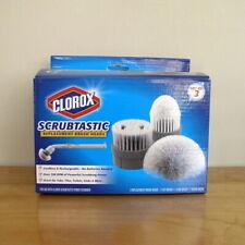 Clorox Scrubtastic Replacement Brush Heads (Set of 3) New In Box Clean Bathroom