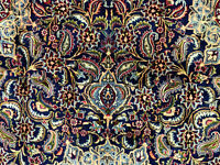 10x13 BLUE ANTIQUE PERSIAN RUG HAND KNOTTED WOOL ORIENTAL RUGS navy green 9x12