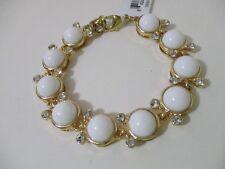 Lee By Lee Angel Capri Cabochon Link Bracelet NIP $38 WHITE