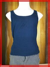 LES PETITES ... FILLE S 6 8 ans très joli haut top tee shirt débardeur bleu fonc
