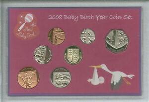 New Born Baby Girl Coin Gift Set 2008 (Parent Mum & Dad Birth Keepsake Present)