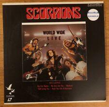 Laserdisc Laser Disc LD Movie - SCORPIONS - WORLD WIDE LIVE - Music Video