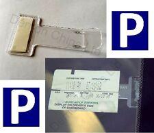Parking Ticket Holder Car Park Vehicle Windscreen Clip Work Pass Permit Plastic